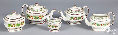 Strawberry pattern pearlware, 19th c.
