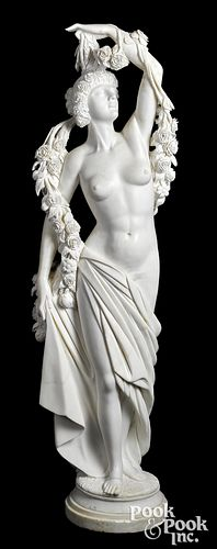 Carrera marble figure of a young maiden
