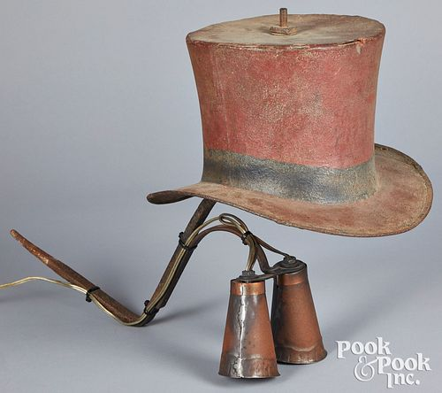 Painted iron hat trade sign, 19th c.