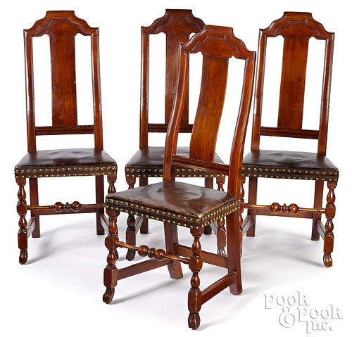Set of four Boston Queen Anne dining chairs