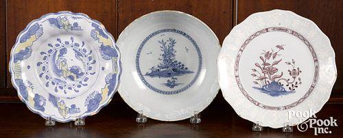 Three pieces of Delft