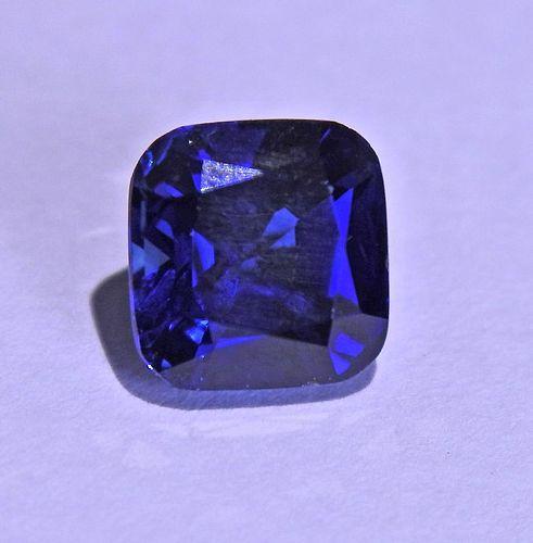 AGL 2.33ct No Heat Cushion Blue Sapphire Gemstone