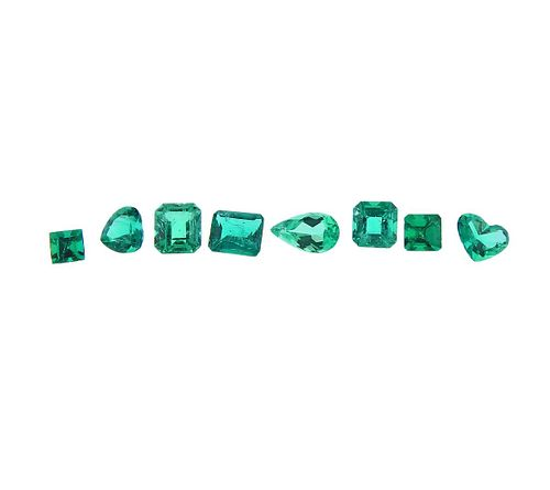 2.86ctw Loose Emerald Gemstone Lot of 8pc