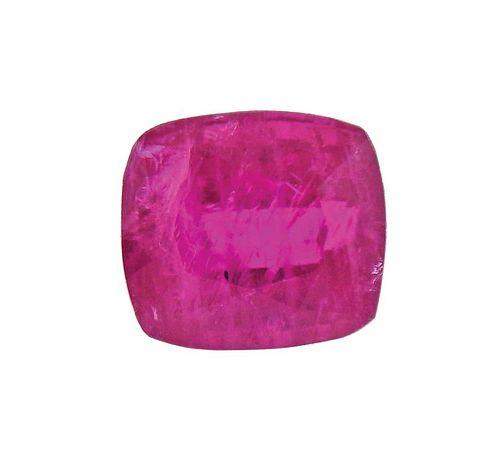 AGL No Heat 2.55ct Ruby Cushion Gemstone