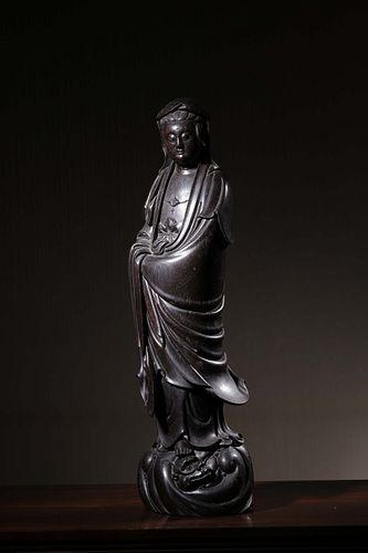 The Qing Dynasty, Avalokitesvara Red Sandalwood Ornament