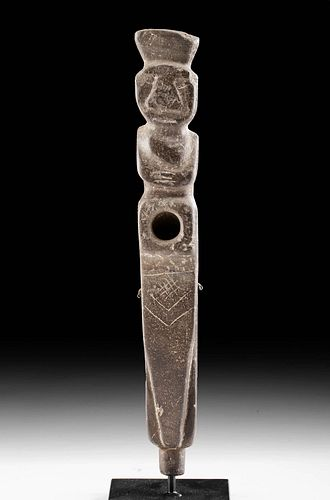 Aguada Stone Figural Pipe