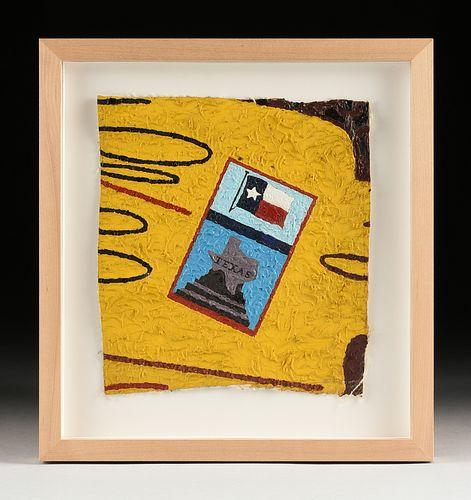"DEREK BOSHIER (British b. 1937) A PAINTING, ""Untitled, Fragment of Tx. Flag,"" 1980-1990,"