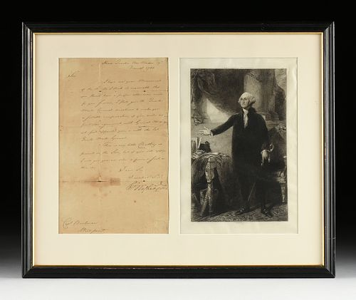 GEORGE WASHINGTON (1732-1799) AS COMMANDER IN CHIEF OF THE CONTINENTAL ARMY AT NEW WINDSOR, AUTOGRAPH LETTER SIGNED MANUSCRIPT TO CAPT. BUCHANAN AT WE