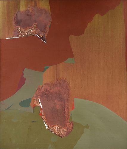 "DOROTHY HOOD (American/Texas 1918-2000) A PAINTING, ""Tanzania - Copper Light V,"""