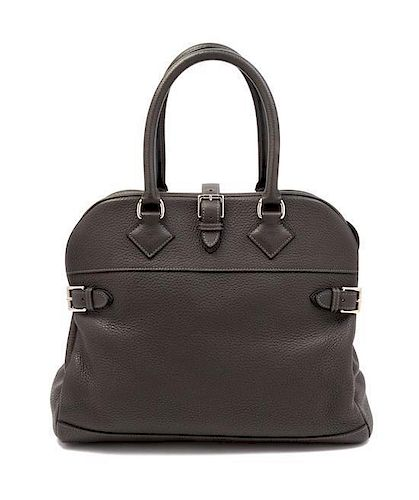 An Hermes 35cm Dark Grey Atlas Handbag, 14