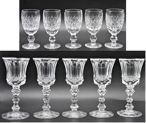 (10) Waterford Crystal Cordials