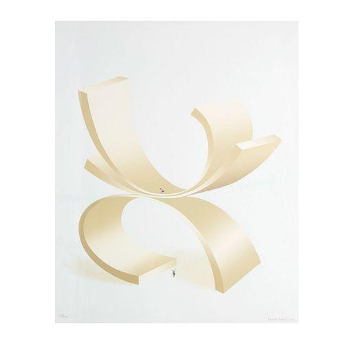 Kurt Larisch. Sin título. Firmada. Serigrafía 03/100. Con sello de agua de Ediciones Multiarte, Taller Enrique Cattaneo.
