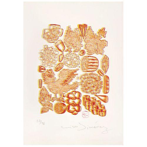 CISCO JIMÉNEZ, Sin título, Firmada, Serigrafía 37 / 46, 41.5 x 31.5 cm, Con documento