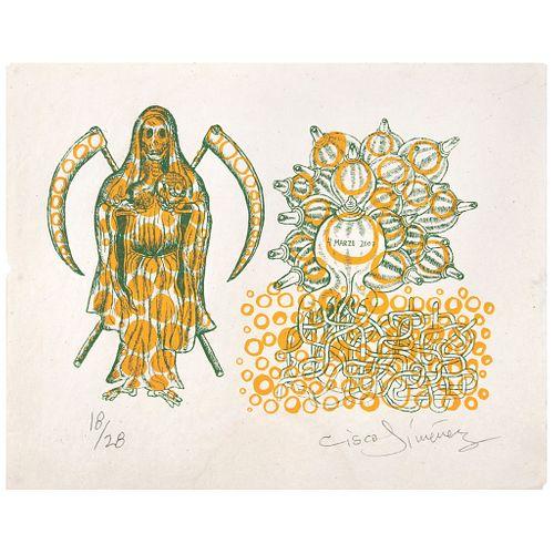 CISCO JIMÉNEZ, Sin título, Firmada, Serigrafía 18 / 28, 27 x 38 cm, Con documento