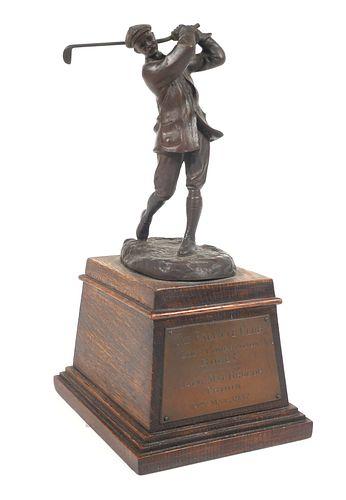 Rare 1937 HARRY VARDON Troon Bronze Golf Trophy