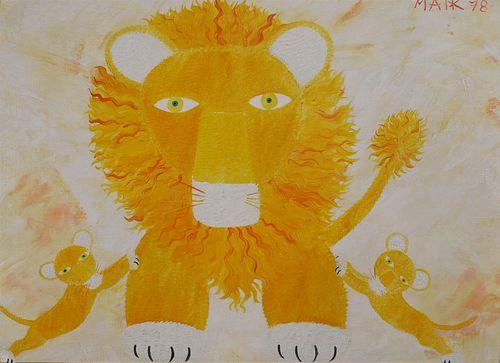 HENRI MAIK, Lion & Cubs, O/C