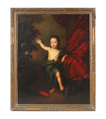JAMES MAUBERT attrib—17C Old Master Portrait—Large