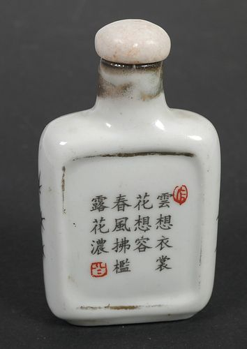 Antique Chinese Painted Lady SNUFF BOTTLE