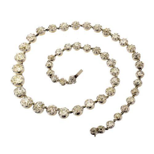 Diamond, Platinum and 18K Necklace