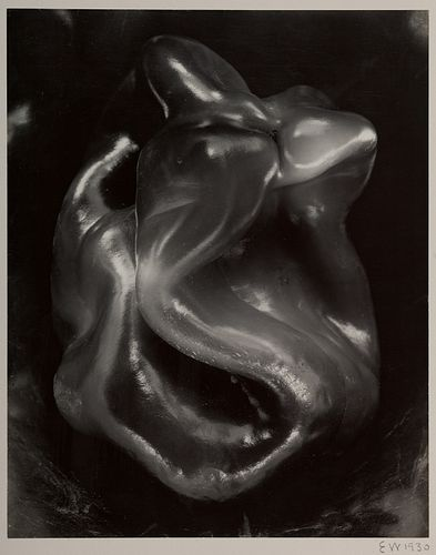 "Edward Weston, Am. 1886-1958, ""Pepper #38P"" 1930, Gelatin silver print, mounted, print"