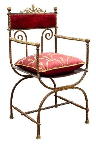 Oscar Bach Directoire Style Metal Chair