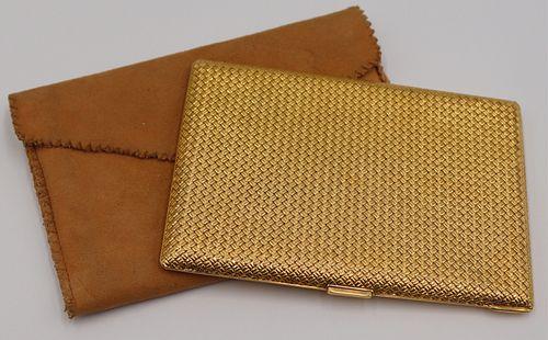 GOLD. Van Cleef & Arpels 18kt Gold Woven Case.