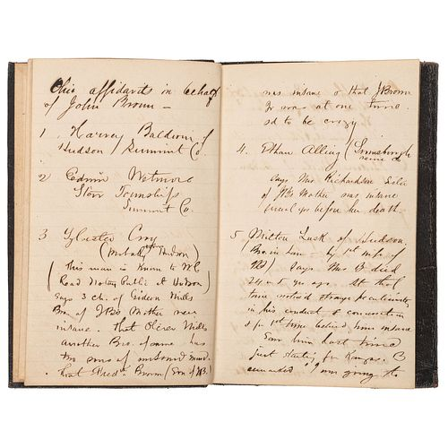 [BROWN, John (1800-1859)]. HOYT, George H. (1837-1877). An archive of materials mostly related to abolitionist George H. Hoyt's work as an attorney fo