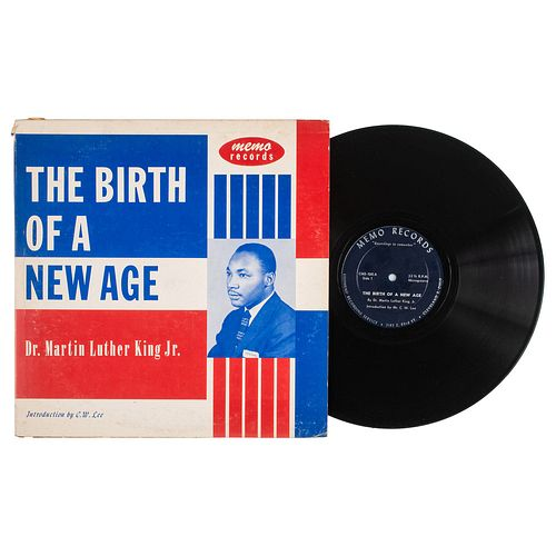 KING, Martin Luther Jr. (1929-1968). The Birth of a New Age. Cleveland: Stephens' Recording Service, Memo Records, 1956.