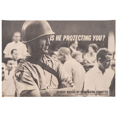 [CIVIL RIGHTS - SNCC] LYON, Danny, photographer. Is He Protecting You? Atlanta, GA: Lincoln Lithograph Company, [ca 1963-64].