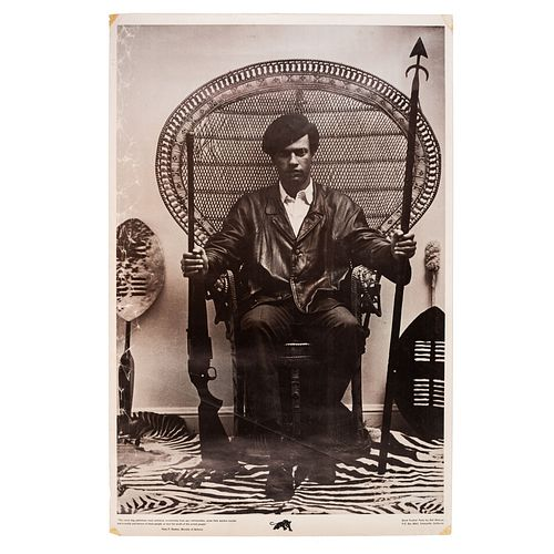 [NEWTON, Huey (1942-1989)]. [BLACK PANTHERS]. The Racist Dog Policemen Must Withdraw Immediately From Our Communities. Everyville, CA: Black Panther P