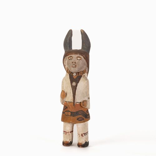 An Ohkay Owingeh [San Juan] or Tesuque Antelope Dancer Doll, ca. 1945-50