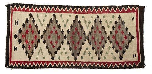 A Navajo Crystal Wide Ruins Type Textile, ca. 1920