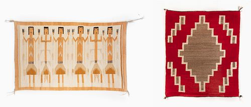 Two Navajo Textiles, ca. 1950