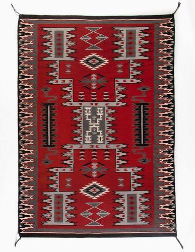 Navajo, Jolita Williams, Ganado Storm Pattern Textile, ca. 1980