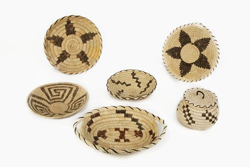 A Group of Thirteen Tohono O'odham [Papago] Baskets, ca. 1960