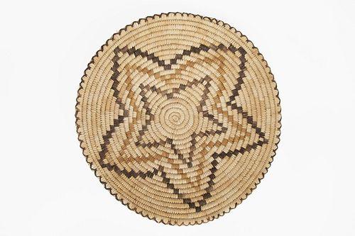 A Tohono O'odham [Papago] Polychrome Basketry Bowl, ca. 1950