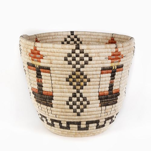 A Hopi Coiled Pictorial Basket, ca. 1960