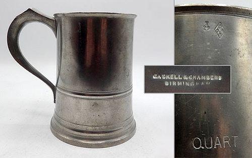 Quart English Pewter Mugs (a)