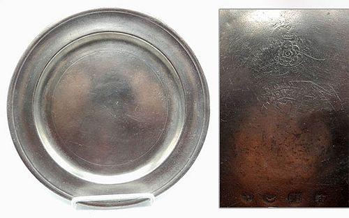 Pewter Plate by Frederick Bassett