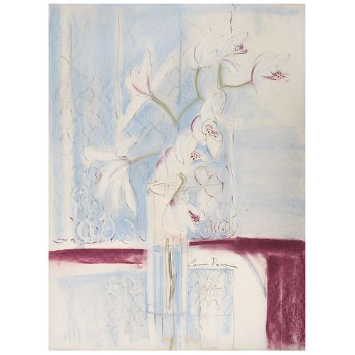 "CARMEN PARRA, Untitled, Signed, Pastels and graphite pencil on paper, 27.1 x 19.2"" (69 x 49 cm)"