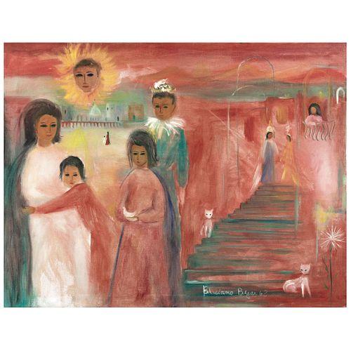 "FELICIANO BÉJAR, El pequeño bufón, Signed and dated 63, Oil on canvas, 27.5 x 35.4"" (70 x 90 cm)"