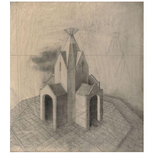 """REMEDIOS VARO, Estudio para Microcosmos o Determinismo, Unsigned, Graphite pencil on paper, 25.9 x 22.8"""" (66 x 58 cm), Document"""