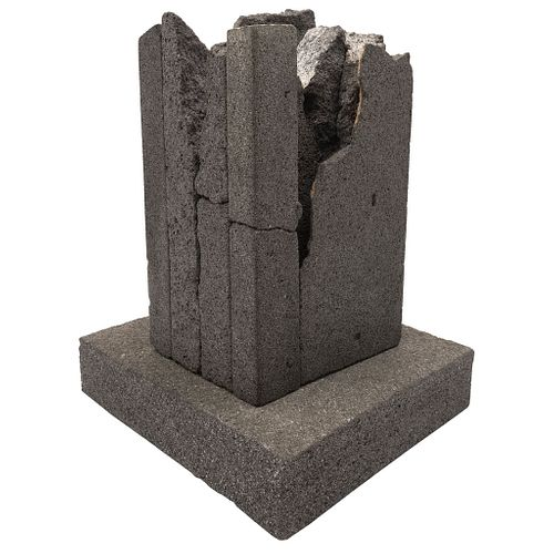 "JORGE YÁZPIK, Untitled, Unsigned, Stone sculpture on stone base, 12.9 x 7.5 x 6.2"" (33 x 19.3 x 16 cm), Varying measurements"