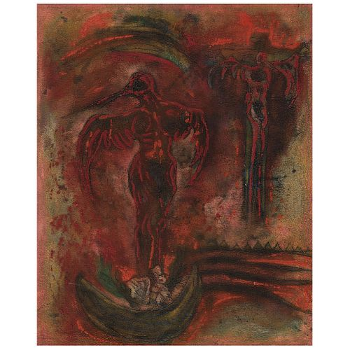 "ROSENDO PÉREZ PINACHO, Untitled, Signed and dated 99, Oil and sand on canvas, 39.3 x 31.4"" (100 x 80 cm)"