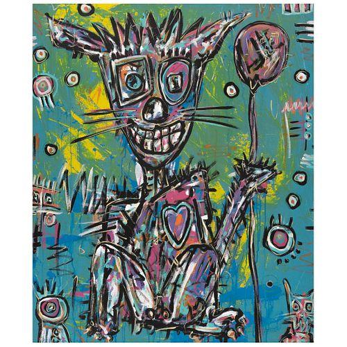 "ALEXIS CABALLERO, Te regalo mi corazón para que lo tires, Signed ""cama"" and dated 2020 front and back, Acrylic on canvas, 47.2 x 39.1"" (120 x 99.5 cm)"