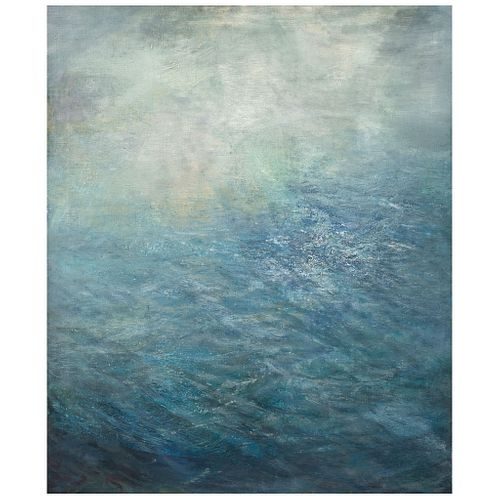 """MANUELA GENERALI, Agua, Signed and dated 1992 on back, Oil on canvas, 47.2 x 39.3"""" (120 x 100 cm), Certificate"""