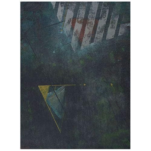 "ILSE GRADWOHL, Untitled, Signed, Oil on canvas, 47.2 x 35.4"" (120 x 90 cm)"
