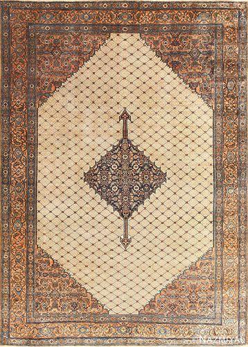 ANTIQUE PERSIAN BIBIKABAD RUG, 13 ft x 9 ft 5 in