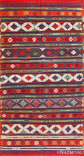 VINTAGE TRIBAL TURKISH KILIM, 9 ft 2 in x 5 ft 3 in
