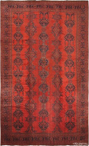 ANTIQUE TURKISH OUSHAK AREA RUG 20 ft 2 in x 12 ft 2 in